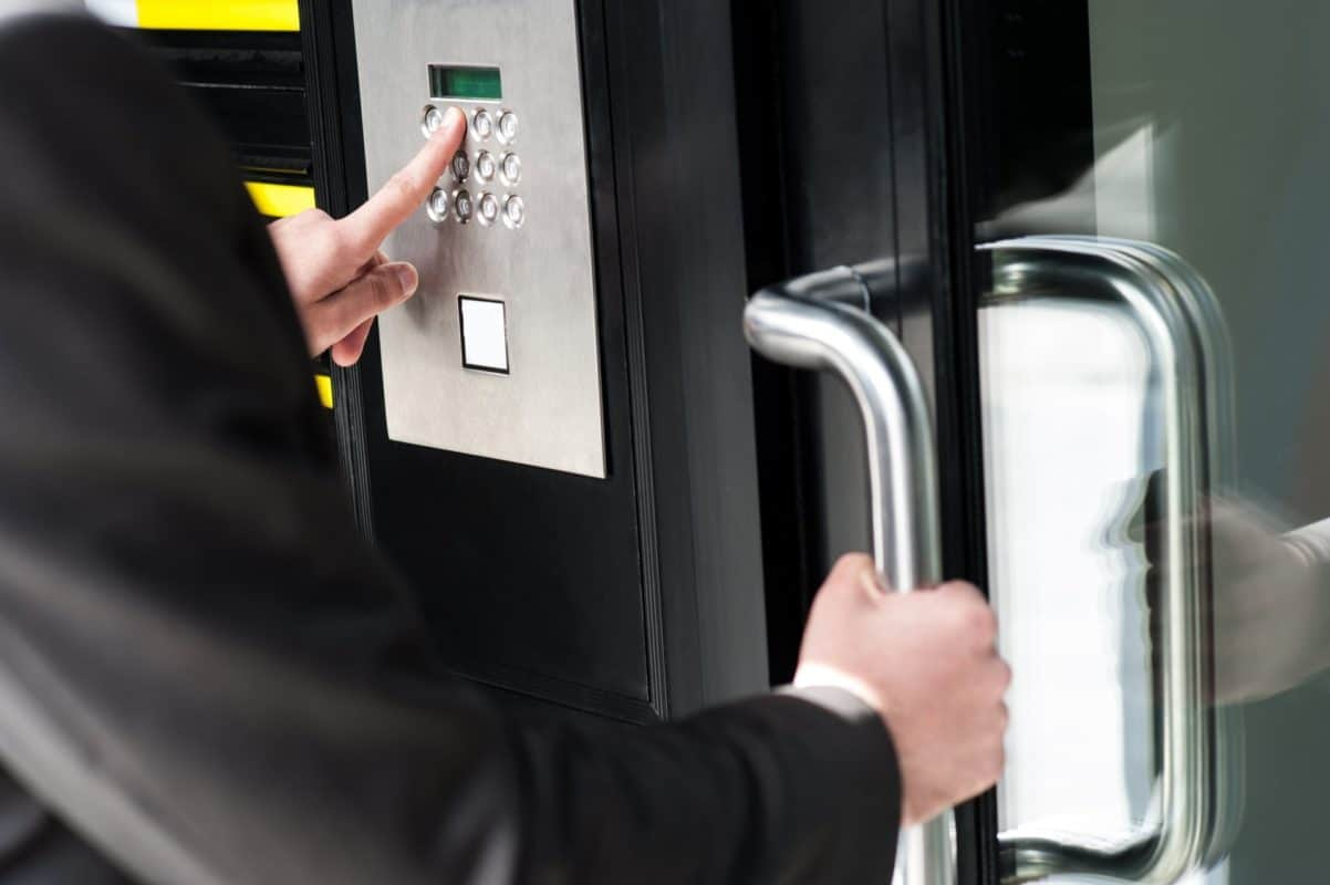 Commercial door entry system