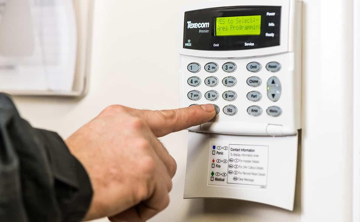 Configuring intruder alarm